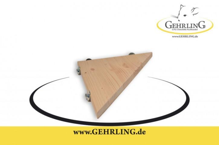 Sitzbrett aus massivem Fichtenholz Dreieck